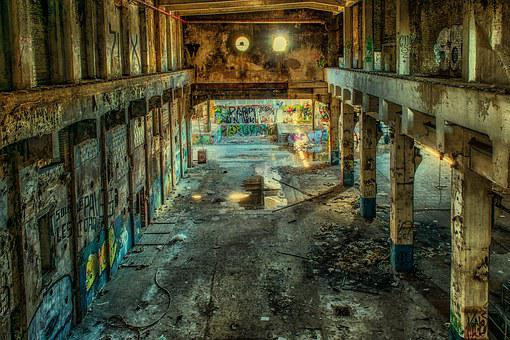 Lost Places, Factory, Hall, Abandoned