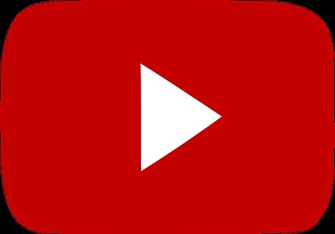 Youtube, Červená, Sociální, Ikona, Hrát