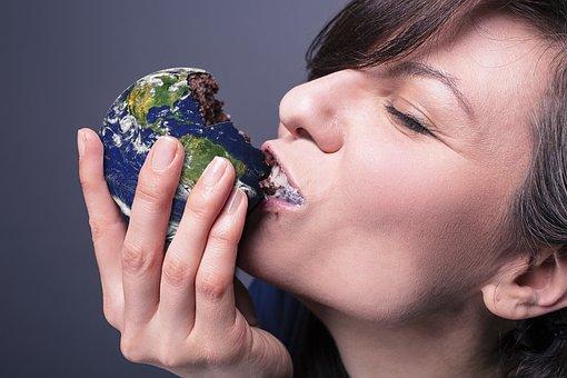 Eating, World, Earth, Environment