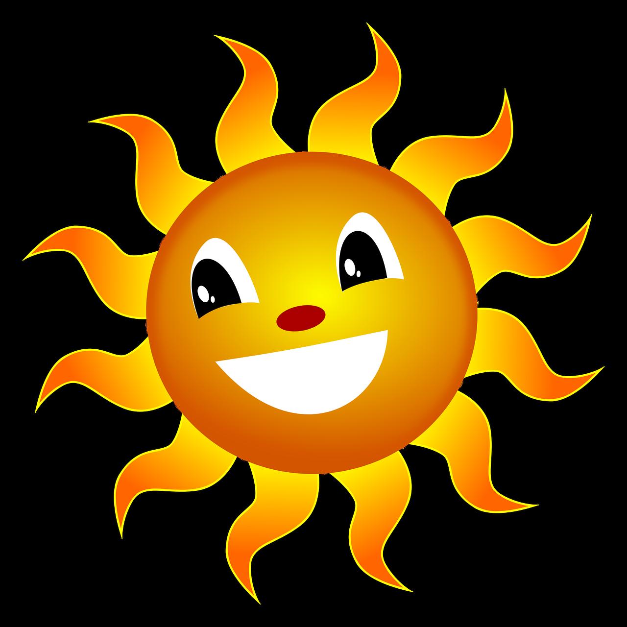 Картинки оранжевого солнышка