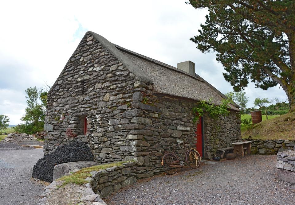 Ireland Stone Building : Free photo stone house irish simply old image