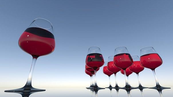 Wineglass, Red, Wine, Glass, Drink