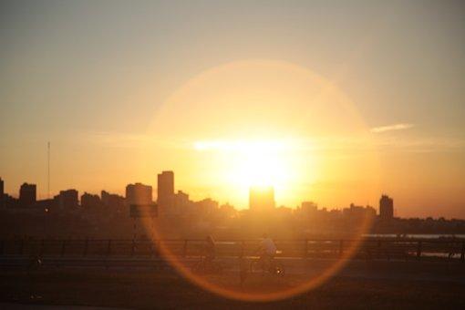 Sun, Contrazluz, Silhouette, Walk