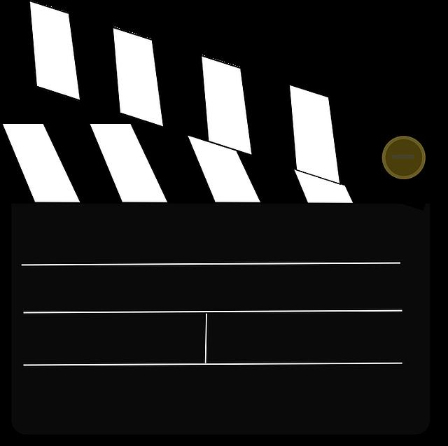 clapperboard cinema videos film  u00b7 free vector graphic on