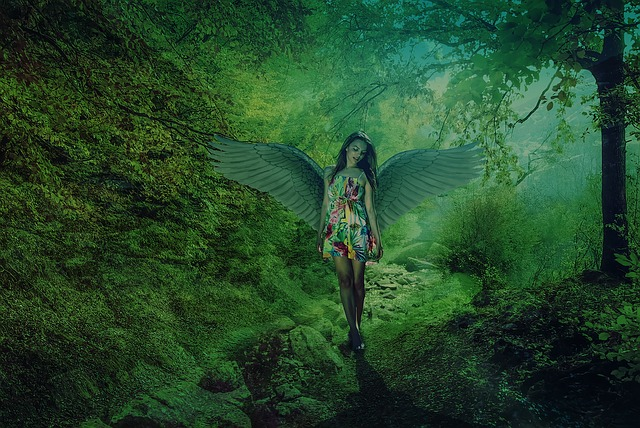 green angel in springtime - photo #15