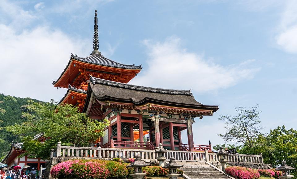 京都, 日本, 清水寺, アジア, ランドマーク, 旅行, 有名な, アーキテクチャ, 歴史, 風光明媚な