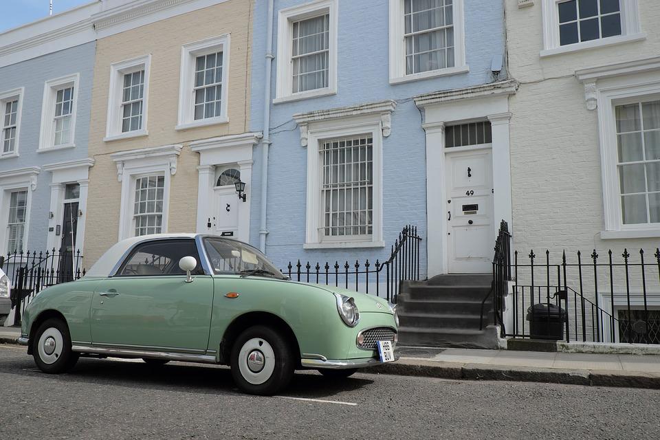 Elegant, Car, Notting Hill, Neighborhood, London, Uk