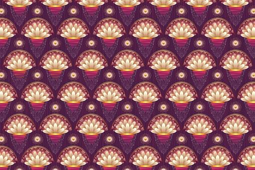 Background Floral Pattern Purple Peta