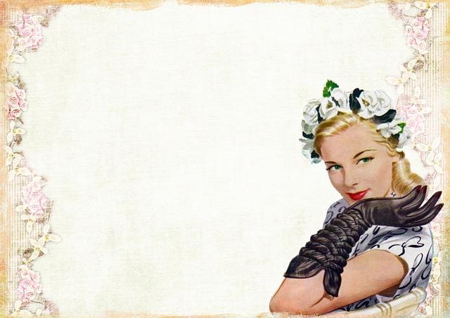 Free Illustration: Vintage, Lady, Fashion, Gloves