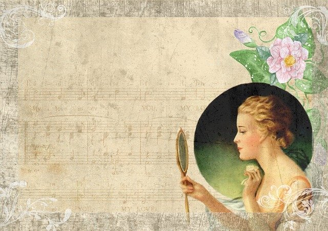 Vintage Lady Mirror 183 Free Image On Pixabay