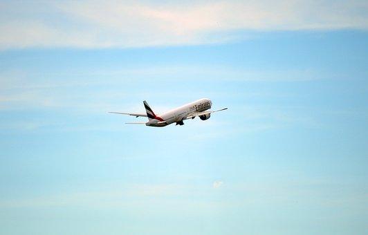 Uae, Emirates, Flight, Airplane
