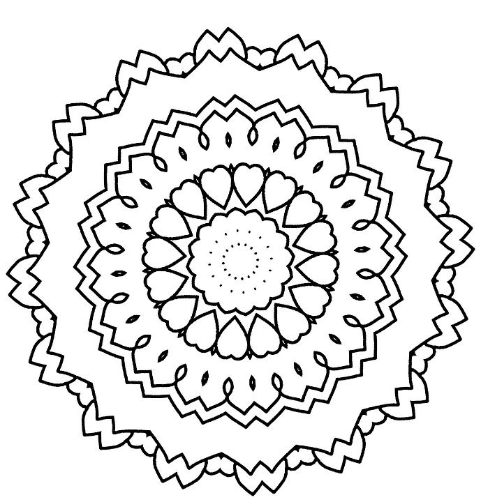 Mandala Dibujo Libro Para Colorear · Imagen gratis en Pixabay