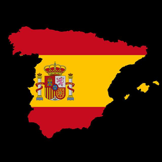 Espagne la carte drapeau image gratuite sur pixabay - Drapeau d espagne a colorier ...