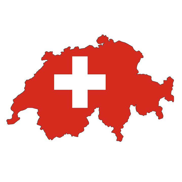 スイス, 高山, 地図, フラグ, 輪郭, 罫線, の国, ヨーロッパ, Eu, アメリカの州, 土地の境界線