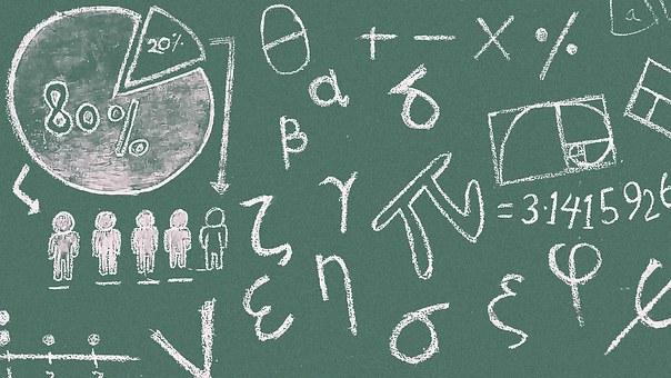 Math Symbols Blackboard Classroom Lesson P