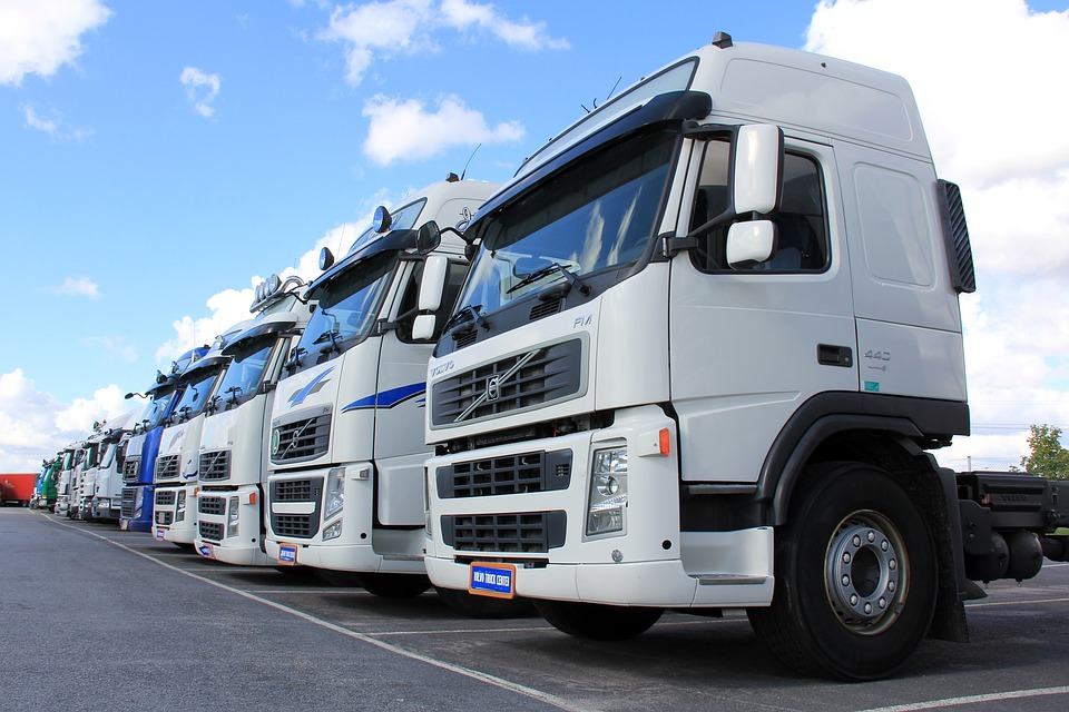 トラック, ホワイト, 車両, 交通, 運賃, トランスポート, 白いバン, 配信, バン, トレーラー