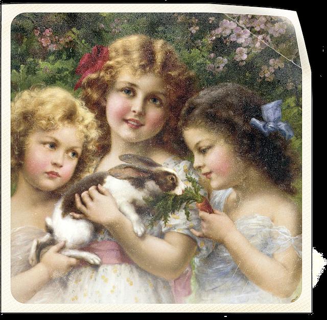 Vintage Little Girls · Free image on Pixabay
