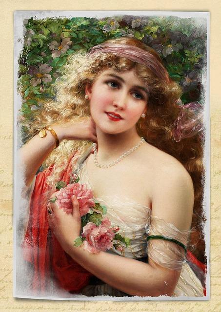 Free Illustration Vintage Woman Art Collage Roses