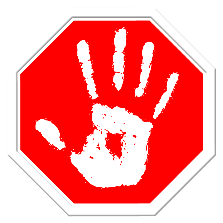 stop hand finger free image on pixabay