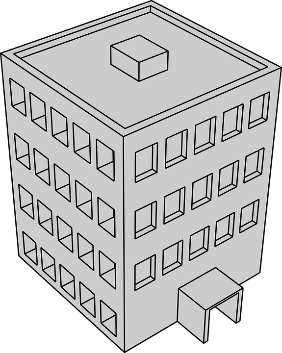 Geb ude grau zeichnung kostenlose vektorgrafik auf pixabay for Dessin batiment 3d