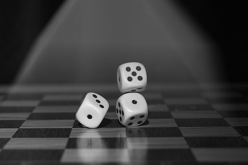 Dice, Game, Monochrome, Roll The Dice