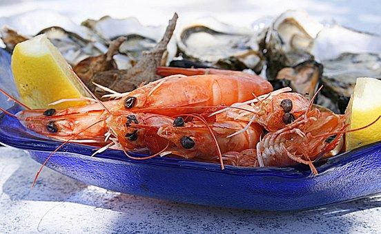 Crevette, Huitre, Fruit De Mer