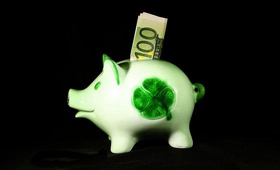 お金, 保存し, Sparscwein, ユーロ, 100, 金融, 貯金箱