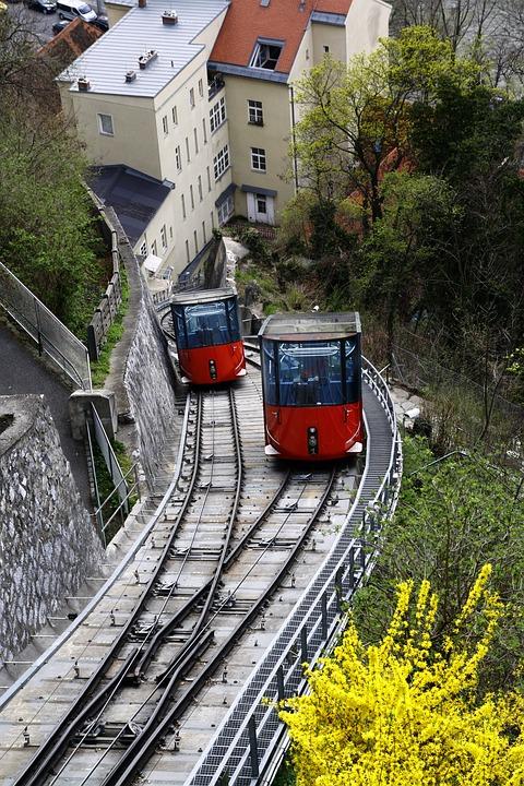 schlossberg graz train  u00b7 free photo on pixabay