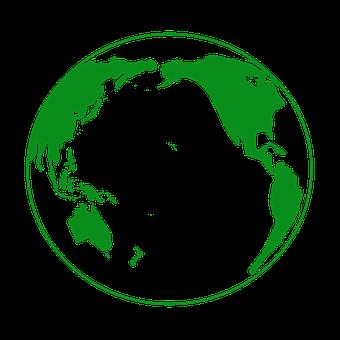 Earth, Green, Globe, Pacific Ocean