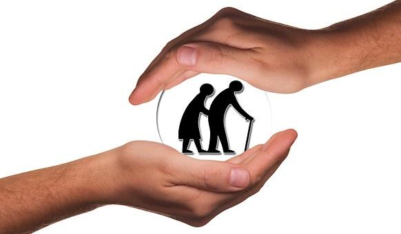 高齢者, 高齢者のケア, 保護, 手, 維持, 責任, 退職後の家, 老人ホーム