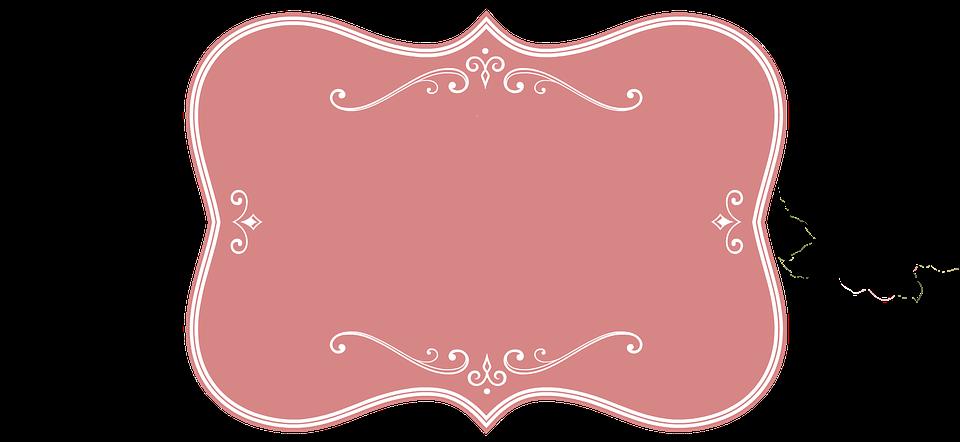 Frame Pink Vintage Decorative Decor Design