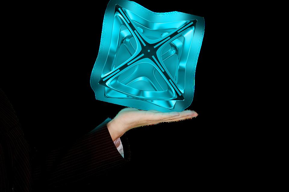 Hologram Hand Shining - Free image on Pixabay