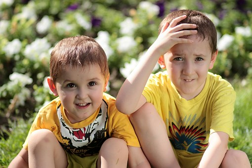 Brothers, Kids, Funny, Nature, Innocence