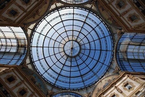Milano, Galleria, Italia, Vetrata