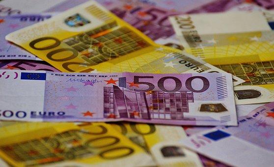 Argent, Semblent, Factures Euro, Monnaie