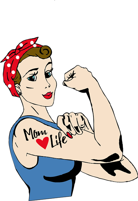 Free Vector Graphic Mom Tattoo Rosie Riveter Free