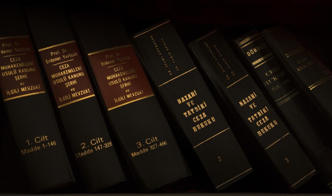 Bookshelf Law books
