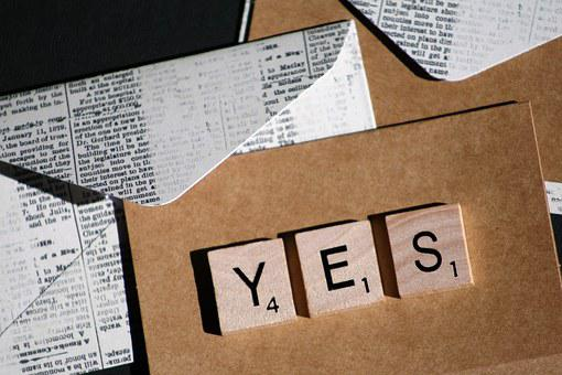 Yes, Message, Design, Note, Text