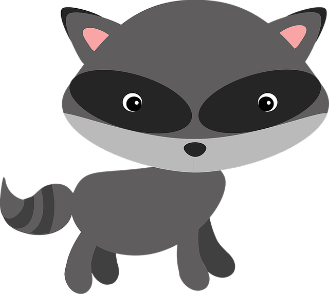 Free vector graphic: Raccoon, Woodland, Animal, Masked ... Raccoon Face Clip Art Black And White