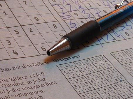 Sudoku, Pen, Puzzles, Pay, Leisure