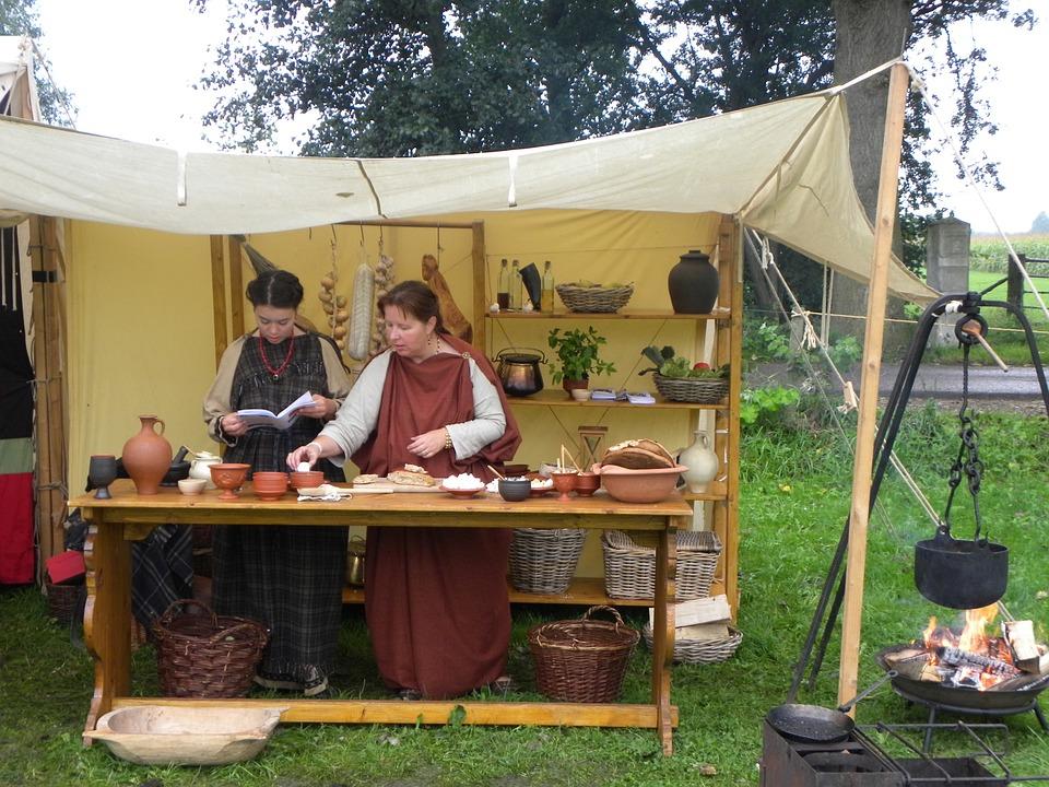 Romano, Cocina, Mujer, Cocina Romana