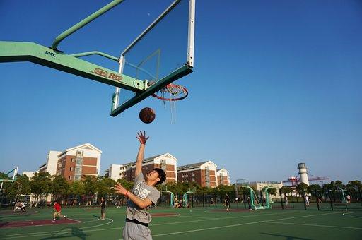 Layup, Basketball, Dunk, Blue, Game