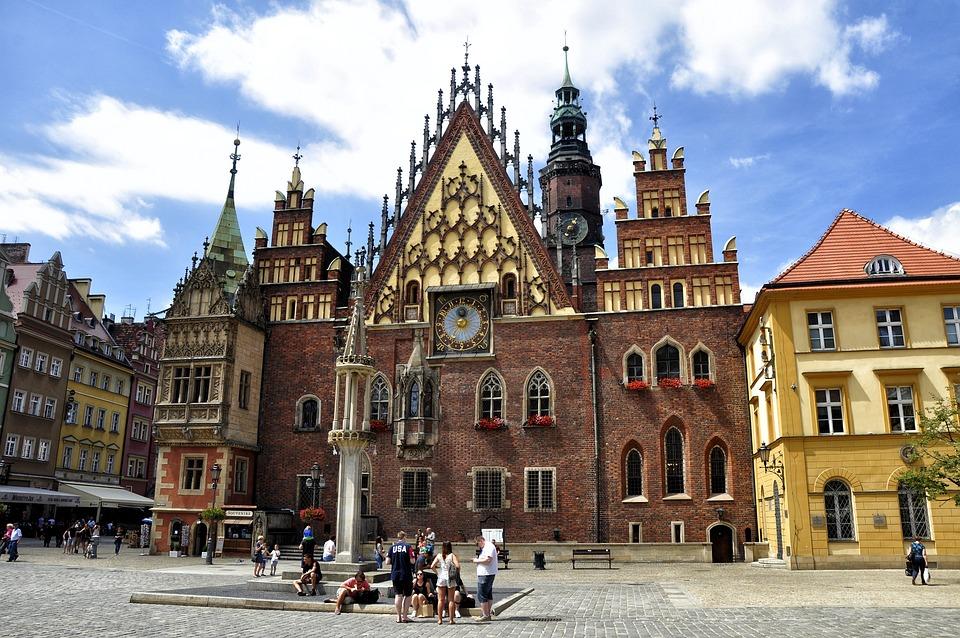 Wrocław, Dolny Śląsk, Architektura, Kolorowe Kamienice