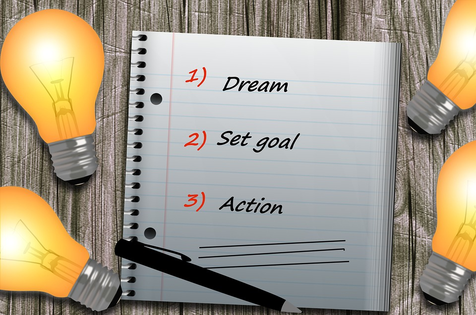 Block, Lamp, Get, Dream, Target, Away, Shops, Clear, Vision, Dream, Set Goal, Action, Stay Organized