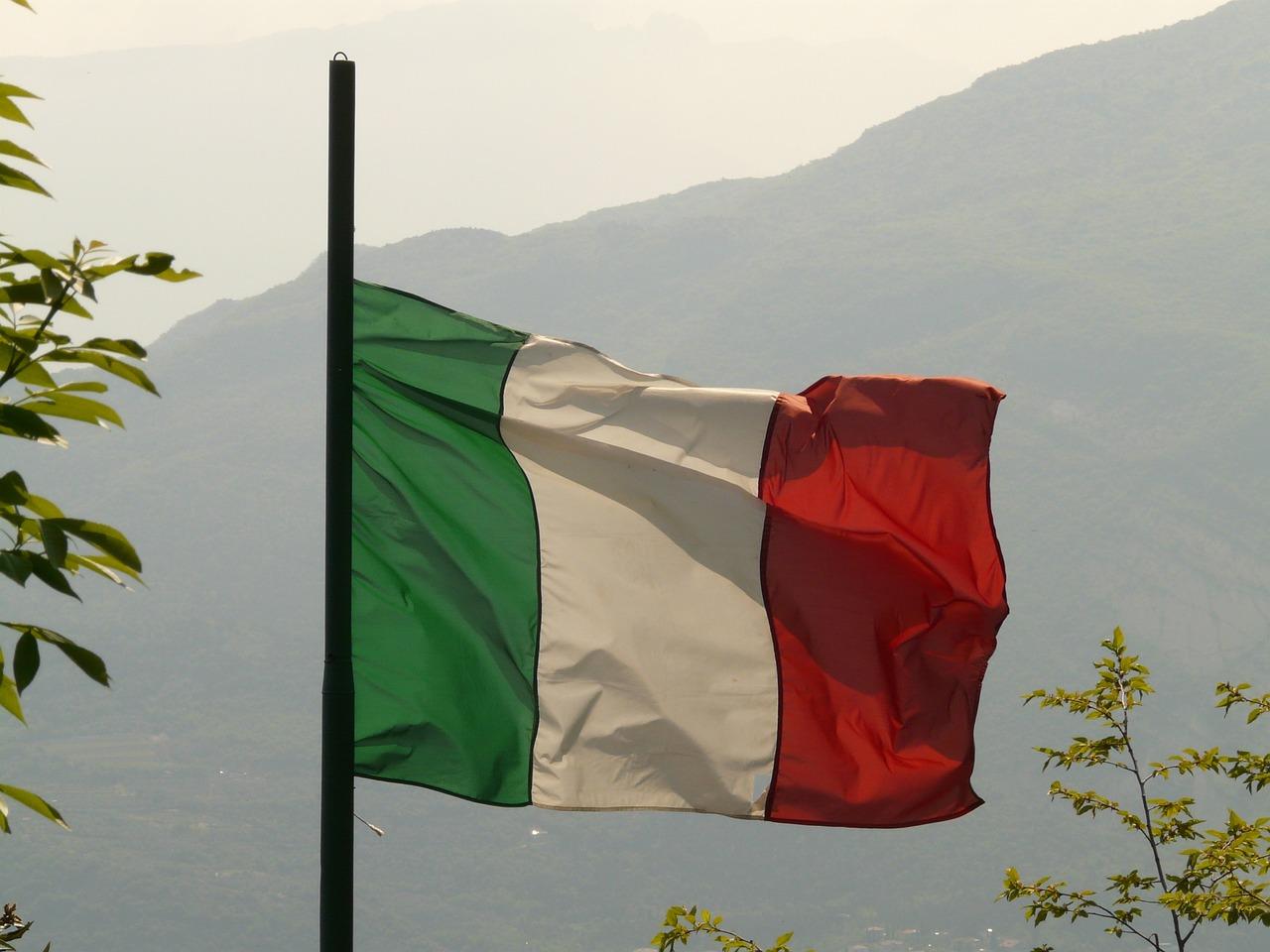Италии фото флага