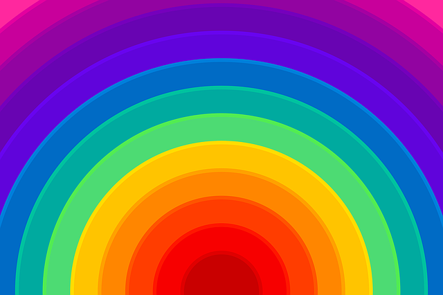 Free Illustration Rainbow Background Colorful Free