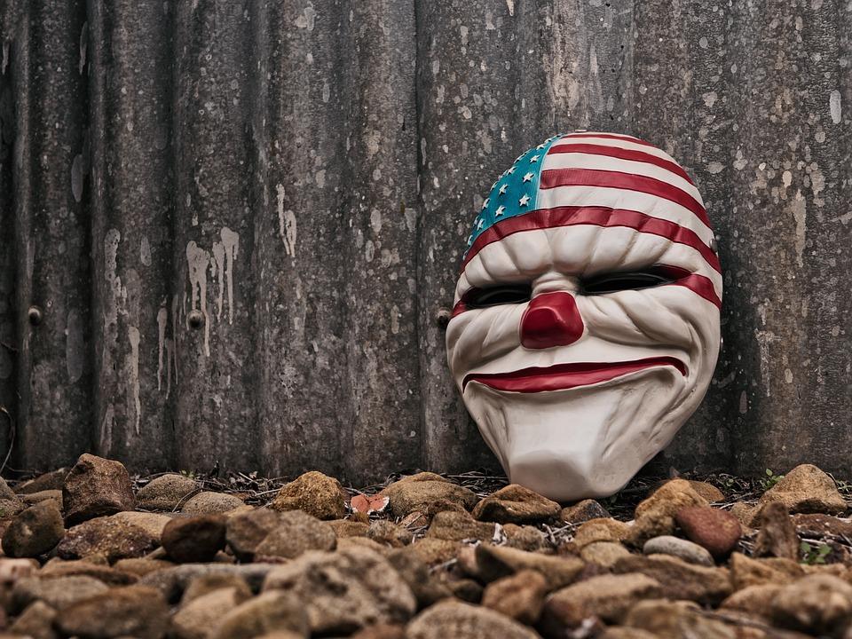 Städtischen, Clown, Böse, Grunge, Horror, Strand