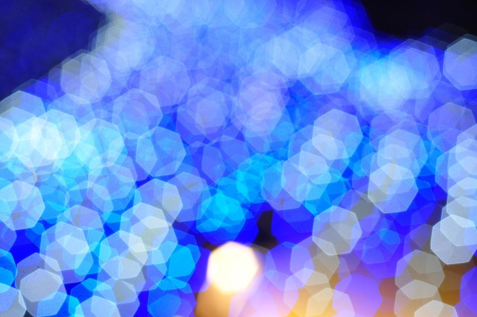 Bokeh, Blue, Light Blue, Neon, Background