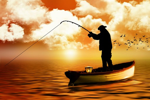 Fisherman, Boat, Fishing, Sea, Water