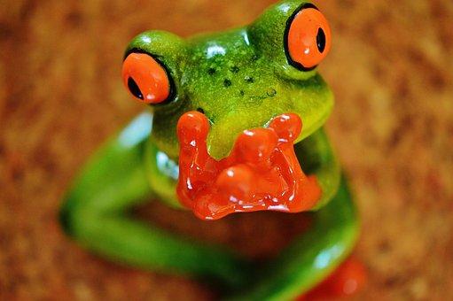 Żaba, Zabawny, Postać, Ładny, Ceramiczne